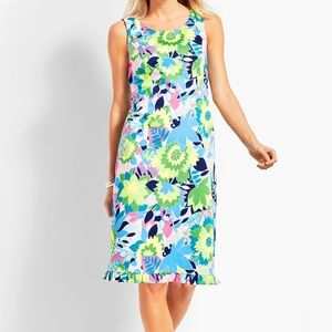 Talbots Island Floral Sateen Sheath Dress SZ 4